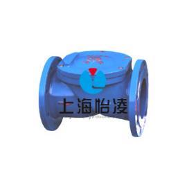 上海怡凌|H44X(SFCV)系列法兰旋启式橡胶瓣止回阀