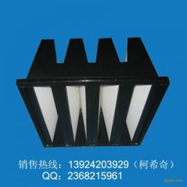 艾瑞塑框组合式过滤器 V型过滤器 大风量组合式过滤器