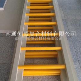南通创盟专业制作玻璃钢爬梯 玻璃纤维爬梯 玻璃钢笼梯