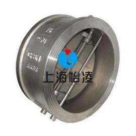 双瓣式止回阀工作原理|上海怡凌H76对夹双瓣式蝶形止回阀