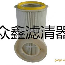 厂家供应工业除尘器320快装式粉末回收除尘滤筒、滤芯