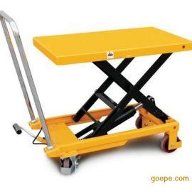 液压手推车 小型升降平台 模具搬运车 物流平板车