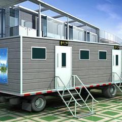 成都华杰,拖挂移动厕所厂家,新型真空移动厕所