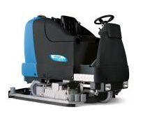 进口洗地机_纺织厂布机车间水磨石地面洗地机