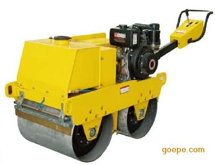 手扶式双轮压路机 wyl-650双轮压路机图片