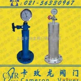 供应上海卡玫龙品牌铸钢不锈钢活塞式水锤消除器