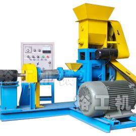 邢台裕工DGP50-C型水产饲料膨化机、鱼饲料机、颗粒饲料膨化机
