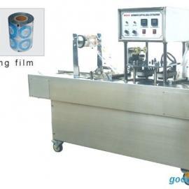 广东进诚牌塑料杯装绿豆沙冰自动灌装封口机 绿豆沙冰封杯机