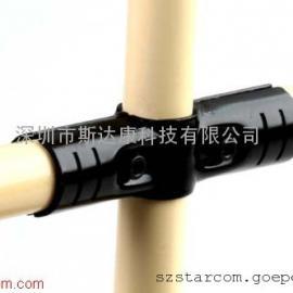 厂家批发线棒接头 精益管连接件 色烤漆金属接头HJ-4