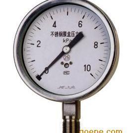 YE-B系列不锈钢膜盒压力表
