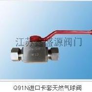 专业生产直通高压球阀 CNG高压球阀卡套式-阜宁阀门