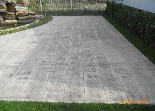 榆林混凝土压印地坪/神木水泥压花路面/榆阳彩色压模地面材料