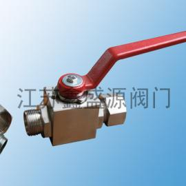 厂家直供鑫盛源CNG不锈钢高压球阀 氢气高压卡套球阀