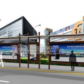 不锈钢公交候车亭 珠海公交站台