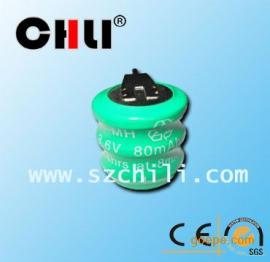 供应3.6v80mah镍氢电池组合厂家大量销售