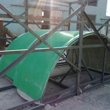 弧形玻璃钢防雨罩(输送机)