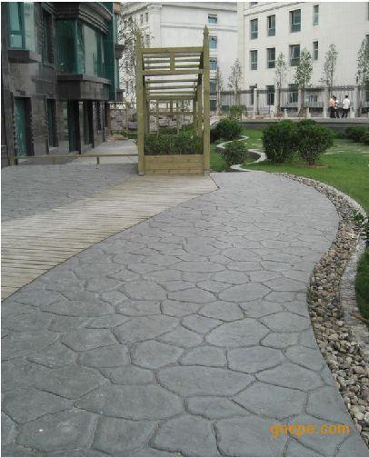 艺术压模地坪薄型防滑路面