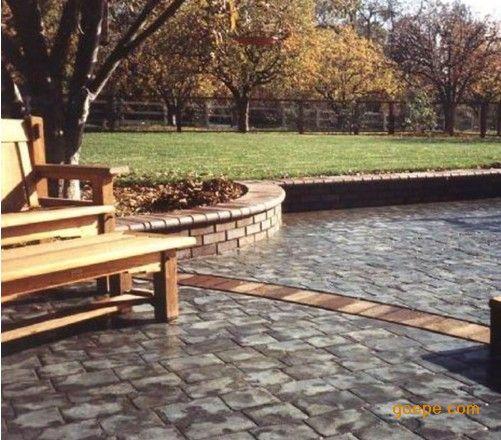 彩色道板砖的理想替代产品-仿石地坪