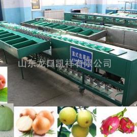 无锡阳山水蜜桃产后重量分选机,分选水蜜桃个头大小的选果机