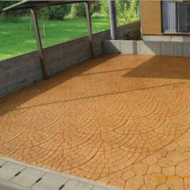 景泰水泥压模地坪硬质地面材料/会宁压花混凝土地坪做法