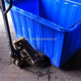 最低价2500L滚塑方形铲车桶/2500L耐酸碱方箱/2500升塑料方桶/PE�