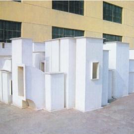 西安宝鸡无机玻璃钢管道、玻璃钢风管现场施工、菱镁玻璃钢风管