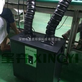 电子焊锡排烟机效果