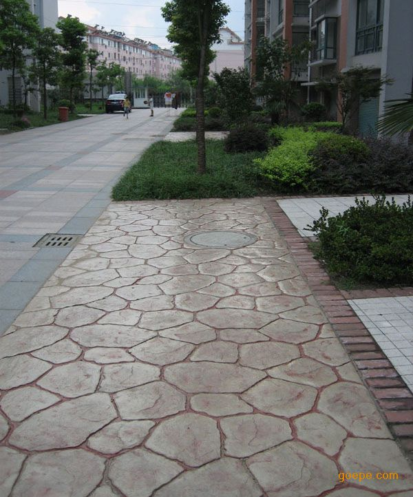 陇西压模地坪做法/渭源水泥仿木地坪/定西耐磨压花混凝土材料