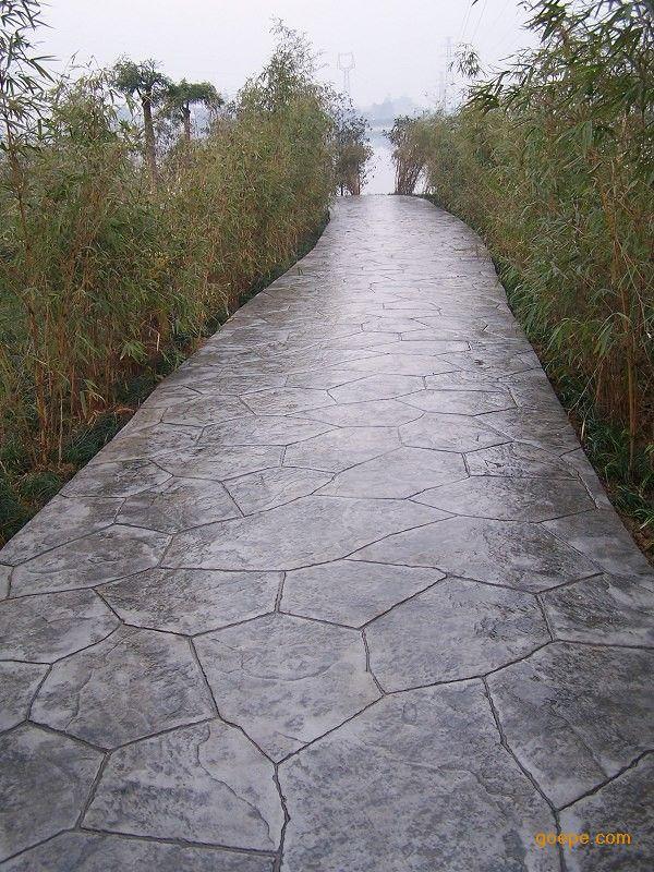 克拉玛依彩色混凝土压模砼/独山子耐磨压花地坪施工模具