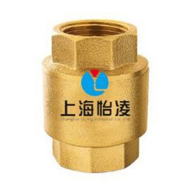 生产供应黄铜立式止回阀|上海怡凌H12W黄铜立式止回阀