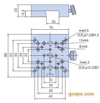 光学滑块:hk04   □特点:   ■采用燕尾结构,与hg系列滑轨配合
