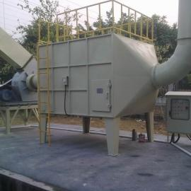 优洁喷漆活性炭吸附塔|东莞化工用吸附塔|东莞优洁电子废气吸附
