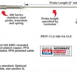 PRTF-11-2-1000-3/16-6-E热电阻 美国omega热电阻