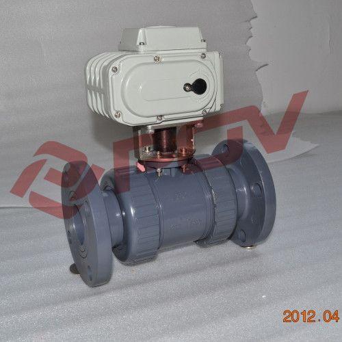 dn25调节型塑料pvdf电动球阀图片