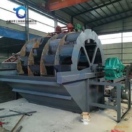 可移动轮式洗砂机产量高 山砂河沙洗沙机