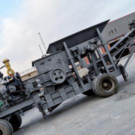 多功能移动式破碎机 制砂机 鹅卵石建筑垃圾粉碎机 碎石机