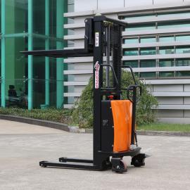 合派CDSD10半电动堆高车载重1吨步行式电动液压升高车