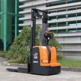 合派CDD14全电动堆高车载重1.4吨步行式电动液压升高车