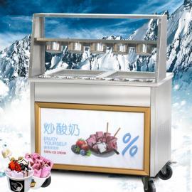 多功能炒酸奶机的报价,单锅炒酸奶机报价,炒酸奶机图片