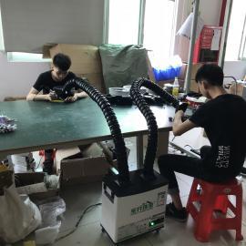 自动焊锡机烙铁头排烟净化装置吸烟过滤器