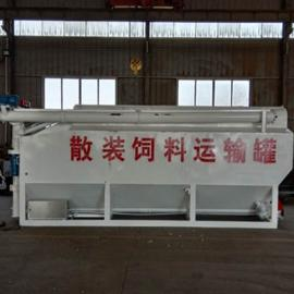 养禽场4.8米车用的饲料运输罐 25方饲料散装罐定做