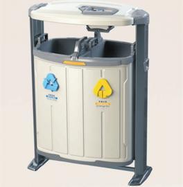 小区分类垃圾桶-公园户外果皮箱定制金属垃圾桶