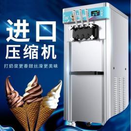 软冰淇淋机使用,小型商用冰淇淋机,果汁冰淇淋机