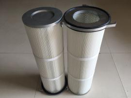 喷砂机铝盖外三耳滤筒 工业除尘滤芯 PTFE覆膜覆膜粉尘滤筒
