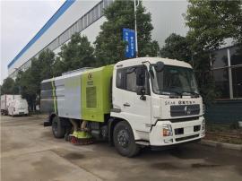 东风天锦10吨喷水吸尘车 洒水公路扫地车订制