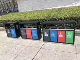 多款式分类垃圾桶户外垃圾分类桶户外分类果皮箱金属桶