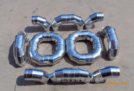 镀锌螺旋风管配件螺旋风管弯头质量保证矩形风管共板法兰风管