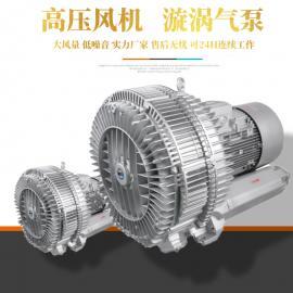 rb033环形高压风机 小型高压鼓风机消音器 3kw高压风机