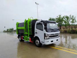 国六新款东风6立方自装卸式挂桶式垃圾车