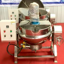 可倾式燃气夹层锅 电加热搅拌炒锅